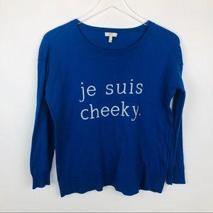 Joie je suis blue cashmere sweater